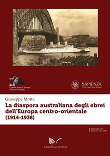 La diaspora australiana degli ebrei dell'Europa centro-orientale (1914-1938) - Giuseppe Motta - copertina
