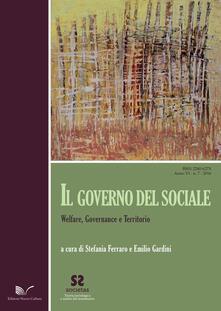 Il governo del sociale. Welfare, governance e territorio - copertina