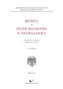 Rivista di studi bizantini e neoellenici. Vol. 52