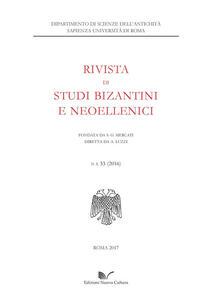 Rivista di studi bizantini e neoellenici. Vol. 53