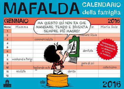 Cartoleria Calendario della famiglia 2016 Mafalda Che Stress! Magazzini Salani