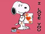 Magnete Snoopy. I Love You