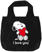 Cartoleria Snoopy I love you shopper pieghevoli Magazzini Salani