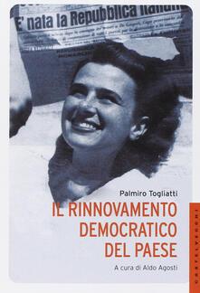 Il rinnovamento democratico del paese - Palmiro Togliatti - copertina