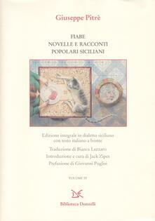 Fiabe, novelle e racconti siciliani. Testo siciliano e italiano. Ediz. integrale - Giuseppe Pitrè - copertina