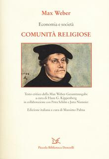 Economia e società. Comunità religiose - Max Weber - copertina