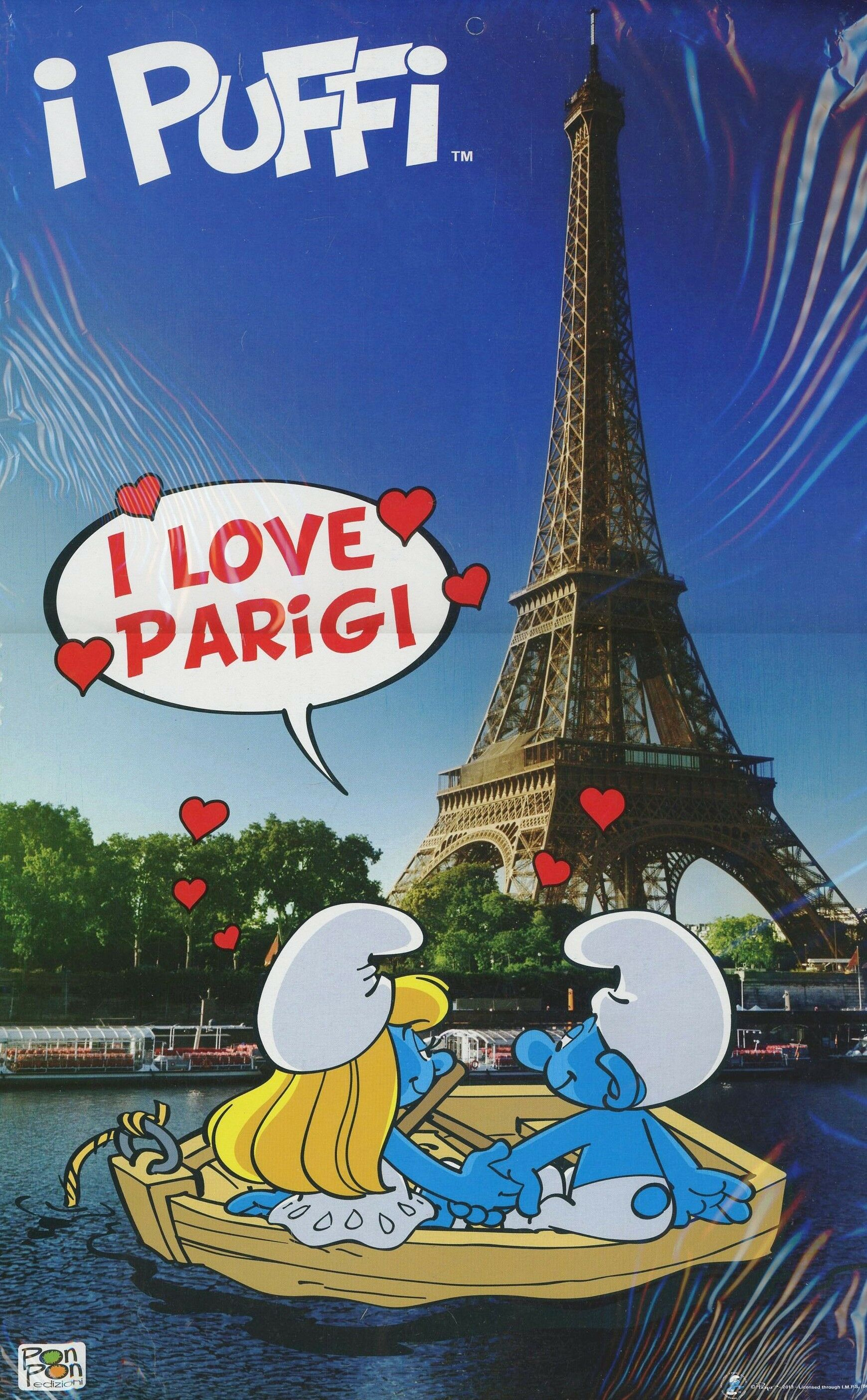 I love Parigi... con i puffi. Travel Book
