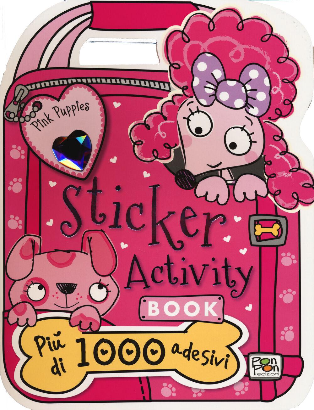 Sticker activity book. Pink Puppies