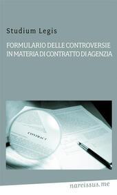 Formulario delle controversie in materia di contratto di agenzia