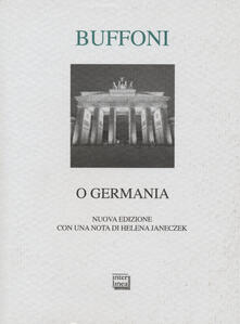 O Germania - Franco Buffoni - copertina