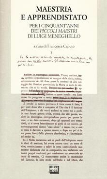 Radiospeed.it Maestria e apprendistato. Per i cinquant'anni dei «Piccoli maestri» di Luigi Meneghello Image