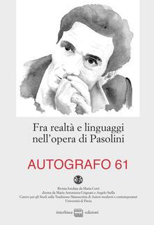 Osteriacasadimare.it Fra realtà e linguaggi nell'opera di Pasolini Image