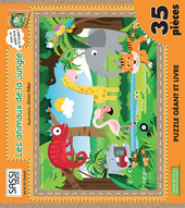 Les animaux de la jungle. Libro puzzle