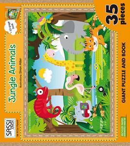Jungle animals. Puzzle gigante. Con libro