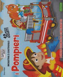 Parcoarenas.it I pompieri. Incastra e costruisci. Libro puzzle Image