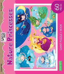 Squillogame.it Nature princesses. Puzzle gigante. Con libro Image
