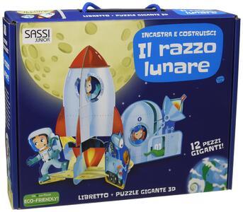 Il razzo lunare. Incastra e costruisci. Libro puzzle