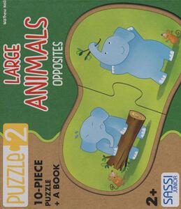 Large animals. Opposites. Con puzzle