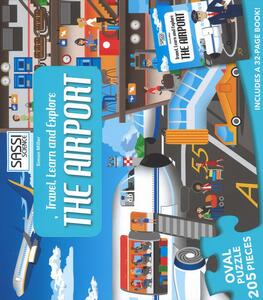 The airport. Travel, learn and explore. Puzzle. Con libro