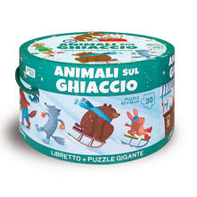Mercatinidinataletorino.it Animali sul ghiaccio. Ediz. illustrata. Con puzzle Image