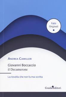 Camfeed.it Giovanni Boccaccio. Il Decamerone. La novella che non fu mai scritta Image