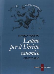 Amatigota.it Latino per il diritto canonico. Eserciziario Image