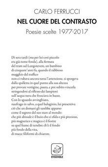Nel cuore del contrasto. Poesie scelte 1977-2017 - Carlo Ferrucci - copertina