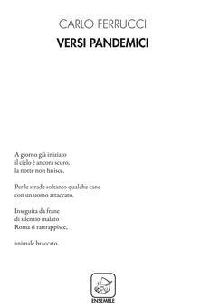 Versi pandemici - Carlo Ferrucci - copertina