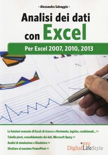 Camfeed.it Analisi dei dati con Excel. Per Excel 2007, 2010, 2013 Image