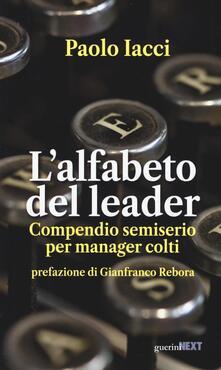 Radiospeed.it L' alfabeto del leader. Compendio semiserio per manager colti Image