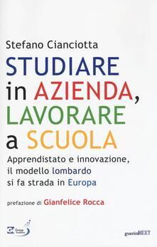 Studiare in azienda, lavorare a scuola. Apprendistato e innovazione, il modello lombardo si fa strada in Europa.pdf