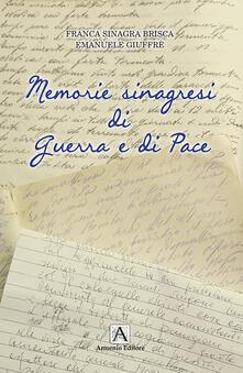 Memorie sinagresi di guerra e di pace - Franca Sinagra Brisca - copertina