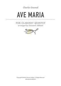 Charles Gounod Ave Maria for Clarinet Quintet