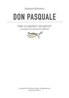 Gaetano Donizetti Don Pasquale for Clarinet Quartet