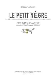 Claude Debussy Le petit nègre for Wind Quartet