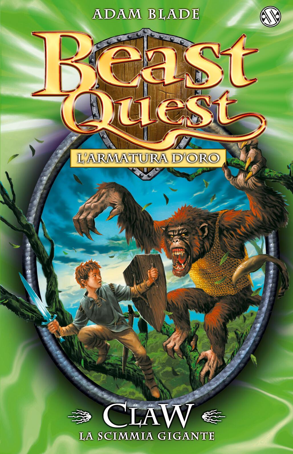 Cook Book Cover Quest : Claw la scimmia gigante l armatura d oro beast quest