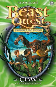 Voluntariadobaleares2014.es Claw. La scimmia gigante. L'armatura d'oro. Beast Quest. Vol. 8 Image