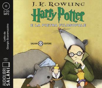 Harry Potter e la pietra filosofale letto da Giorgio Scaramuzzino. Audiolibro. 2 CD Audio formato MP3. Vol. 1