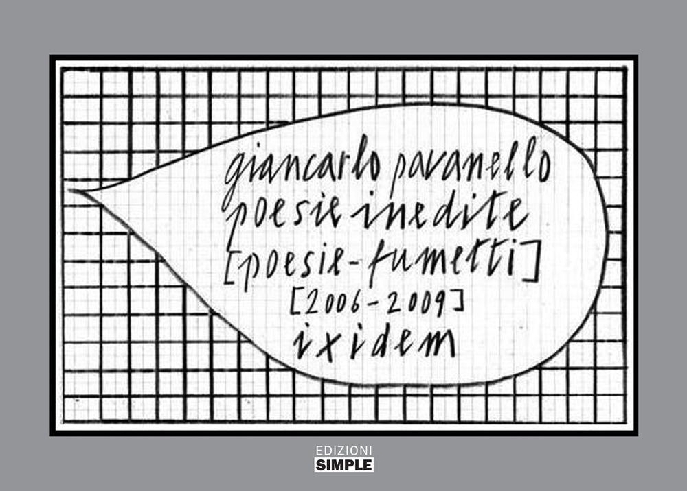 Image of Poesie inedite [poesie-fumetti] [2006-2009] ixidem. Ediz. a colori