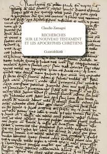 Recherches sur le Nouveau Testament et les apocryphes chrétiens
