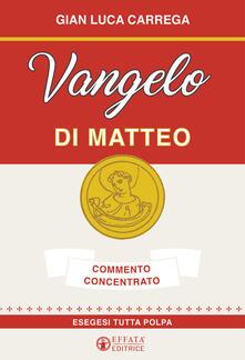Promoartpalermo.it Vangelo di Matteo. Commento concentrato. Esegesi tutta polpa Image