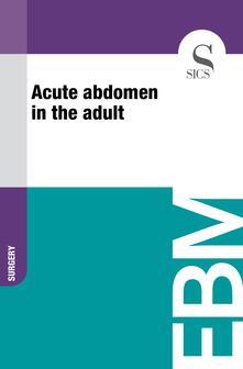 Acute Abdomen in the Adult
