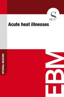 Acute Heat Illnesses
