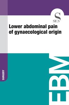 Lower Abdominal Pain of Gynaecological Origin