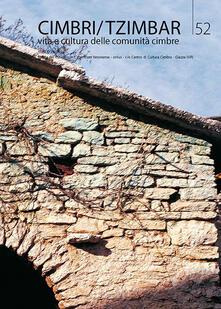 Grandtoureventi.it Cimbri-Tzimbar. Vita e culture delle comunità cimbre. Vol. 52 Image
