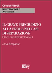 Il grave pregiudizio alla prole nei casi di separazione. Profili giurisprudenziali