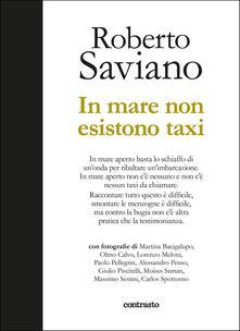 In mare non esistono taxi. Ediz. illustrata - Roberto Saviano - copertina