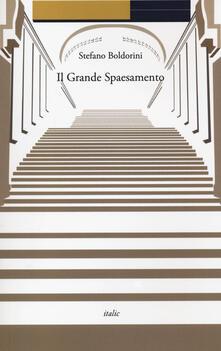 Il grande spaesamento - Stefano Boldorini - copertina