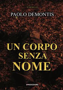 Un corpo senza nome - Paolo Demontis - copertina