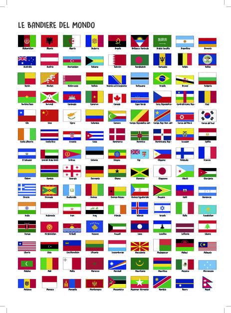 Colora Le Bandiere Del Mondo Ediz Illustrata Libro Libreria